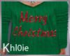 K merry Christmas Tshirt