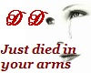 Died in your arms Part 2
