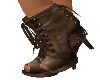 BROWN OPEN TOE BOOTS