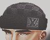 black LV beanie