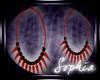 Blck/Red Spike Earrings