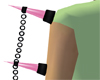 g3 Pink Arm Spikes