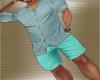 Summer Teal Shorts