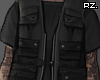 rz. Shirt + Vest Black
