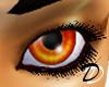 Unisex Fiery Orange Eyes