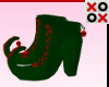 Green & Red Elf Boots