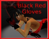 Black and red Gloves
