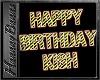 KISH bday floor sign