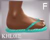 K loco flip flops F