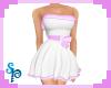 [S] White Purple C Dress
