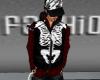 Red Shirt+Skeleton Vest