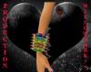 spiked bracelet rainbow