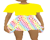 girls polka dot n yellow