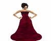 Crimson BridesMaid Gown