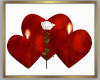 Heart Candles w/Rose