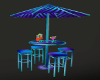 Neon Umbrella and Chairs