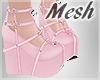 *S Pink Heart Platforms