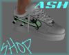 stem stud green shoes