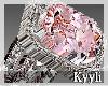 Pink Ice Wedding Ringe