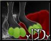xIDx Green Dotty Feet M