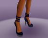 Blue spike High Heels