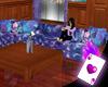 Blue & Purple Sofa