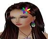Rainbow hair flower
