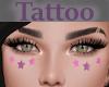 Tattoo Cheeks Stars Pink