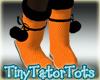 Orange Polka Dot Boots