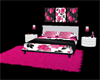 Sexy Pink&black Bed/Rug