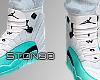 Jordan 12s Light Aqua