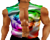 Beachwear-splashed vest