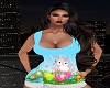 Preg Easter Bunny Top
