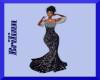 [B] Black Sequin Gown