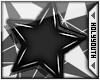 HY|Star Earings Black