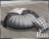 Rus Fall Round Pouf
