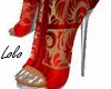 Red lace boot