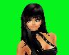 (A)Hair Black w/Burgandy