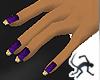 Dark Purple & Gold Nails