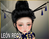 �Chinese Hair Blue Pin