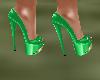 !Em GreenGold Heels