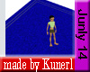 !K! Blue Square Rug