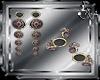 [S] Earrings- bracelets