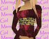Burgandy Maiden Dress