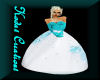 Teal & White ball gown