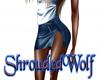 ~Blue Leather~ Skirt