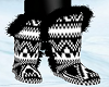 Black/White Boots