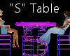 """""""S"""" Club Table for 4"""