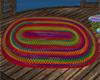 Oval Rainbow Braid Rug