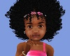 kids fro + bow pink